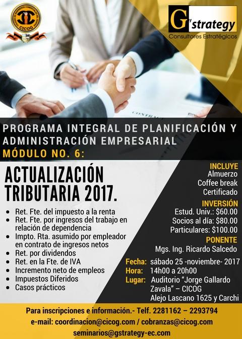 Seminario de Actualización Tributaria 2017